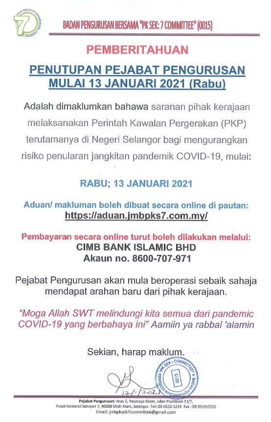 NOTIS PKP 13 JAN 2021